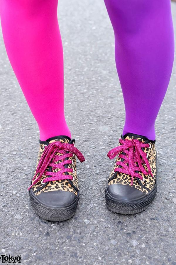 Leopard Sneakers & Cute Tights