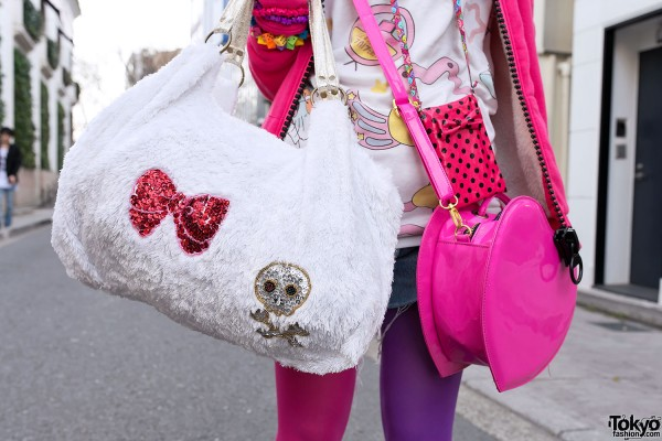 Heart Bag & Skull Bag in Harajuku