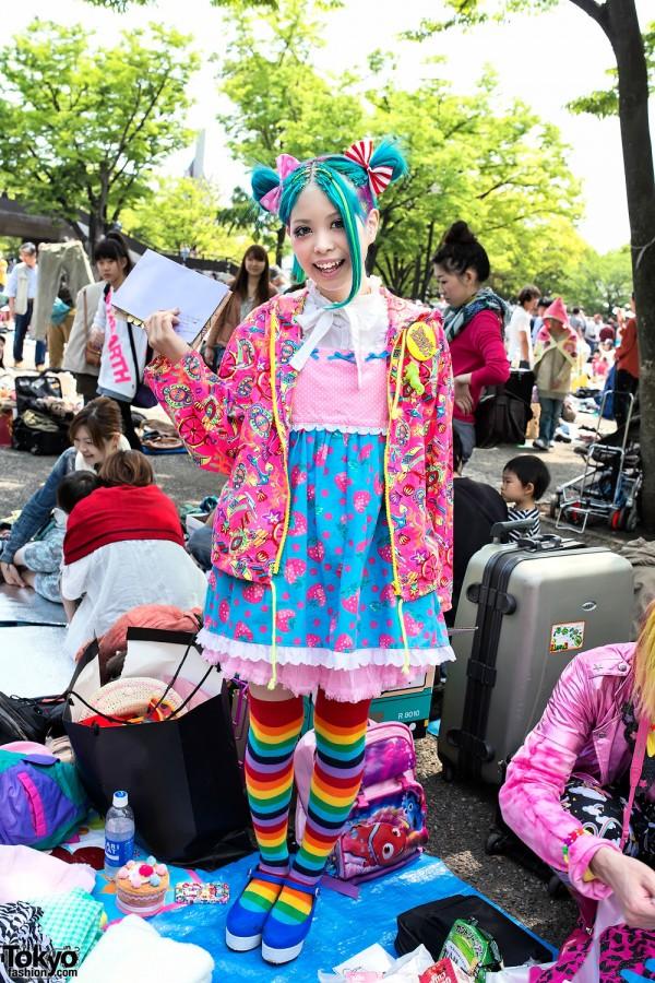 Kurebayashi at the Yoyogi Flea Market