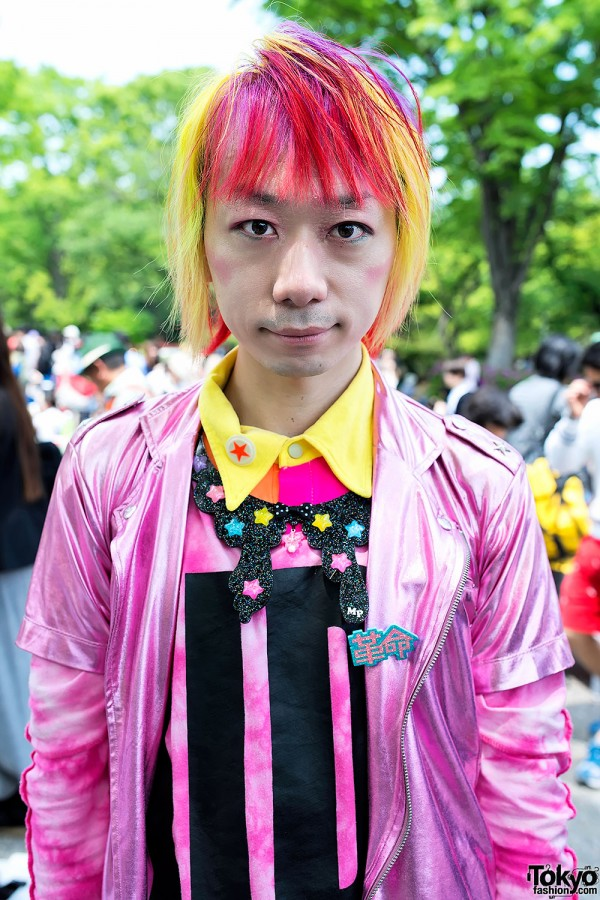 Junnyan With Pink-Yellow Hair