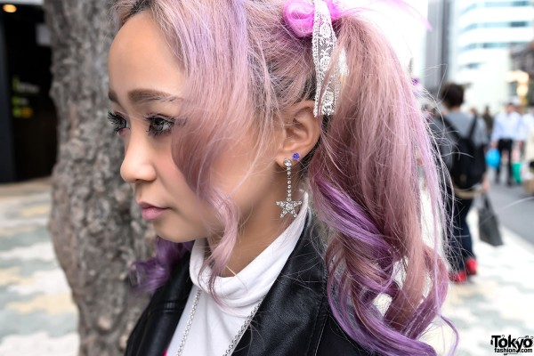 Dangling Earring & Pink Hair