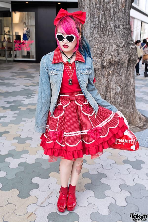 1950s Harajuku Girl w/ Dip Dye Hair, Angelic Pretty & Sexy Dynamite