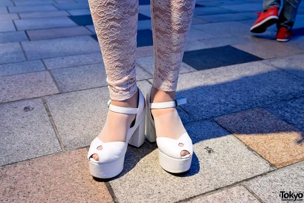 Lace Tights & Platform Heels