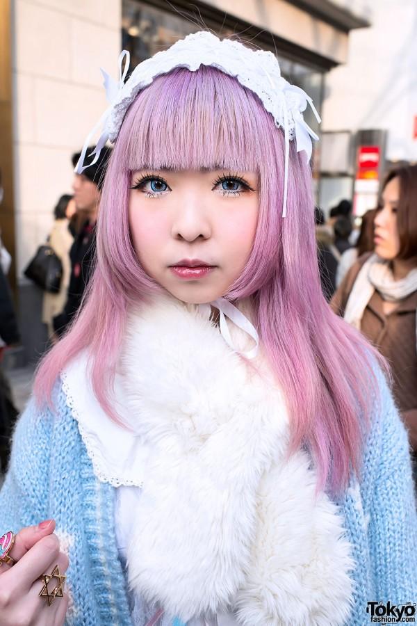 Moco w/ Kawaii Pink Hair in Harajuku