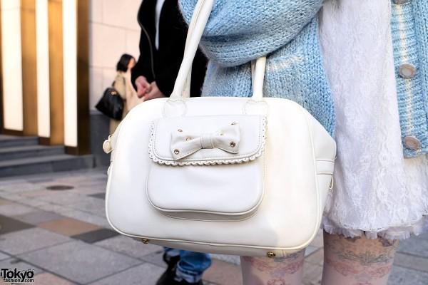 Jeweled Bow Handbag in Harajuku