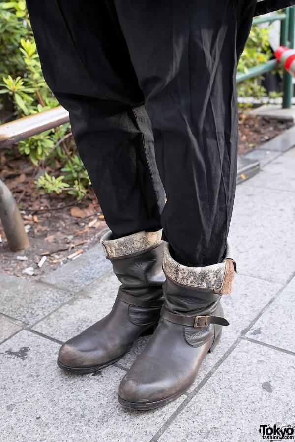 Cuffed Pants & Boots in Harajuku