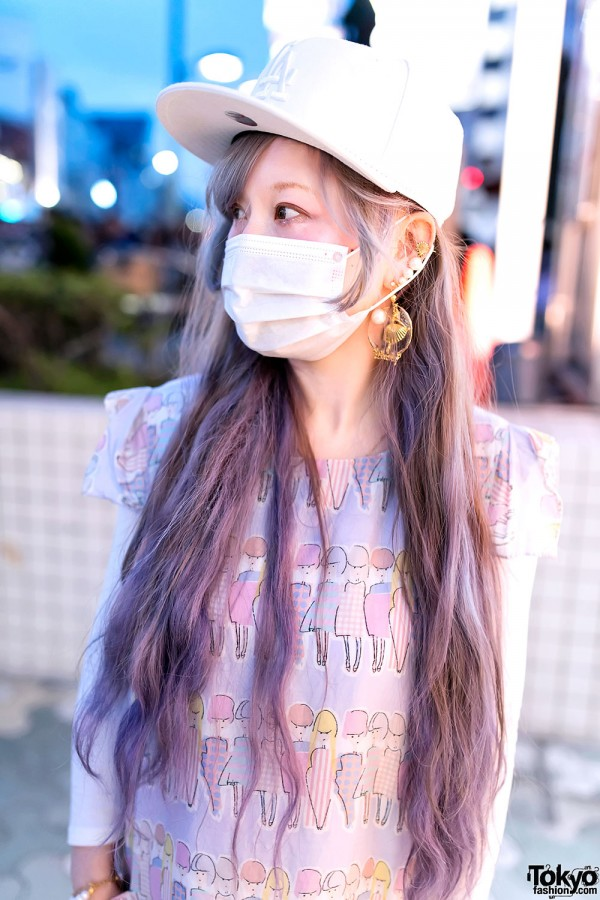 Long Pastel Hair in Harajuku