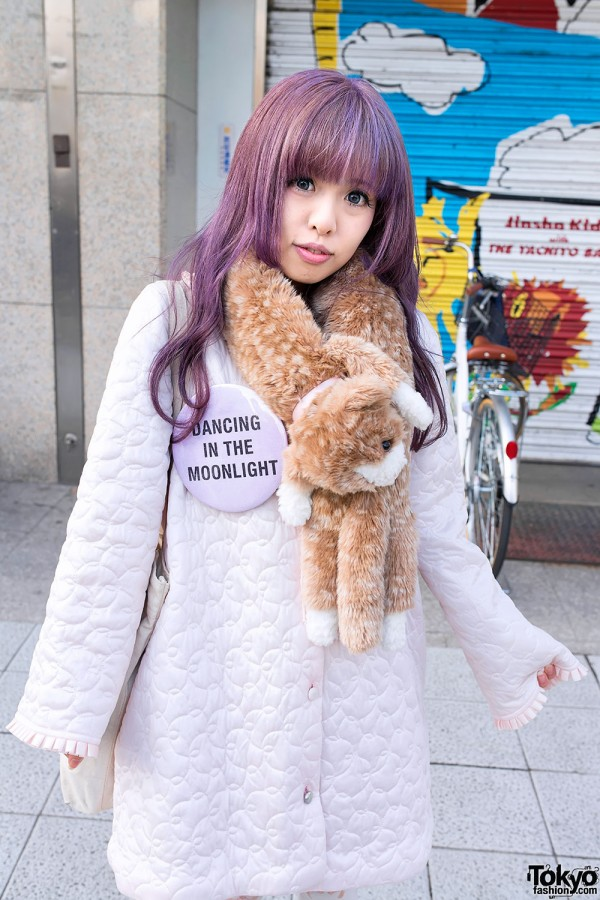Lavender Hair & Kaawaii Plush Muffler