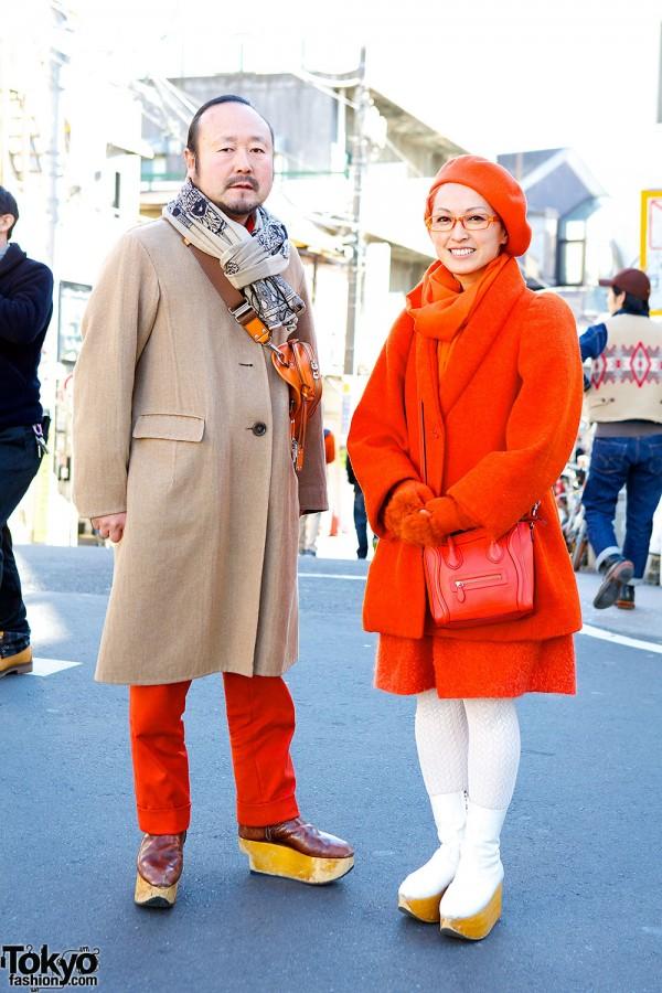 Stylish Harajuku Couple in Vivienne Westwood Shoes