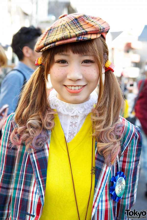 Plaid suit in Harajuku