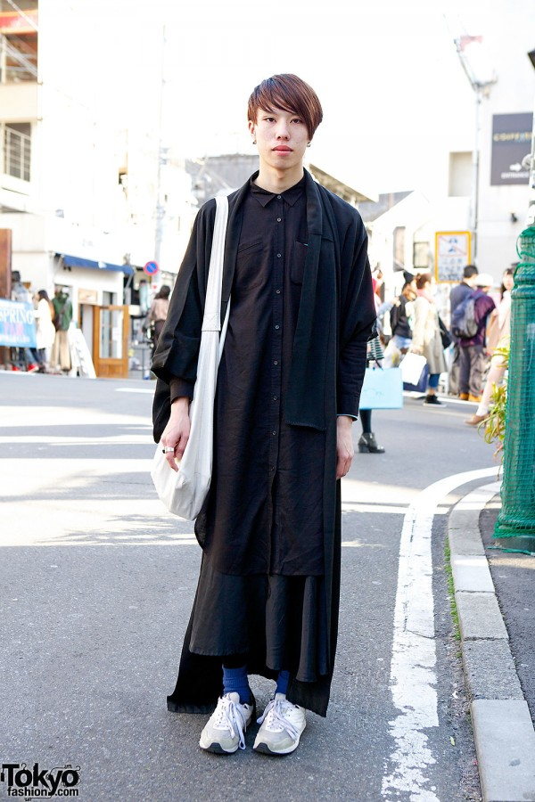 Comme des Garcons & John Lawrence Sullivan On The Street in Harajuku
