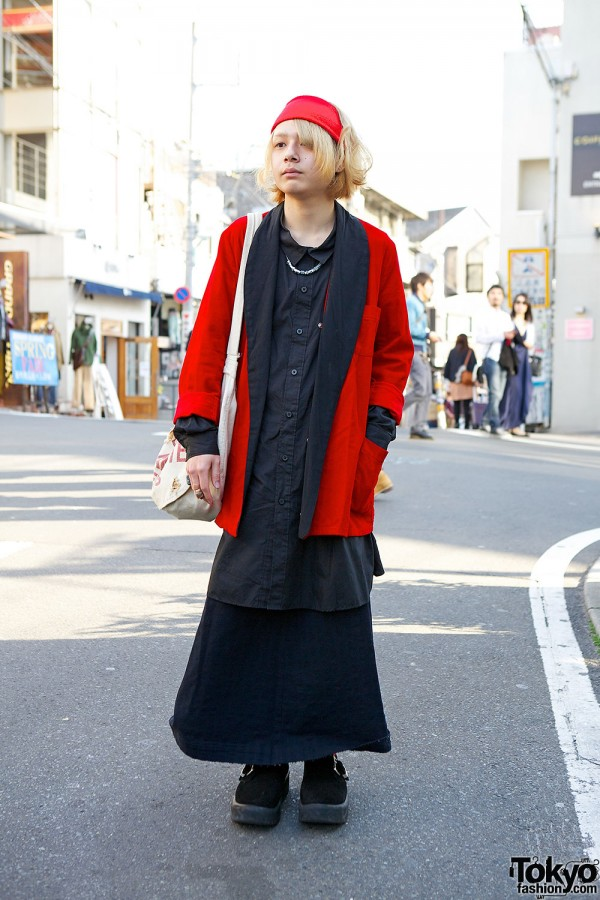 Layered Red & Black Outfit w/ Monomania, LIMI Feu & Tokyo Bopper