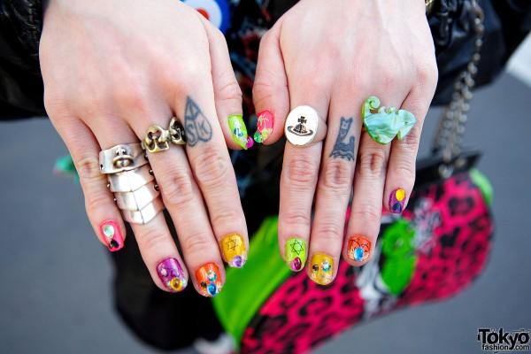 Nail art and rings