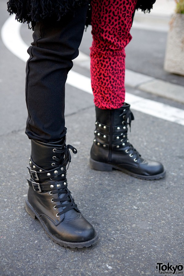 Studded boots in Harajuku