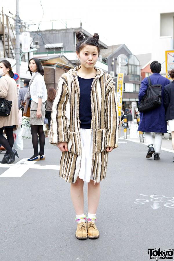 Resale coat & skirt in Harajuku