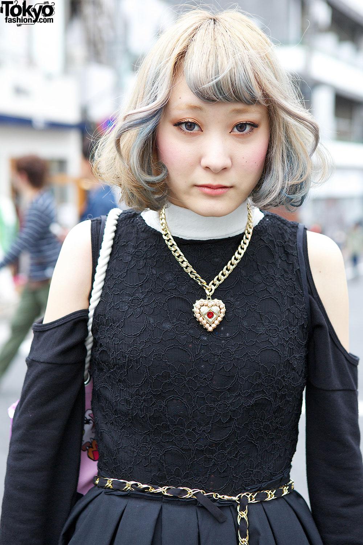 Short Hairstyle w/ Shojono Tomo Bag, Cutout Dress & Tokyo Bopper