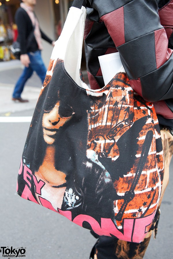 Hysteric Glamour Joey Ramone bag