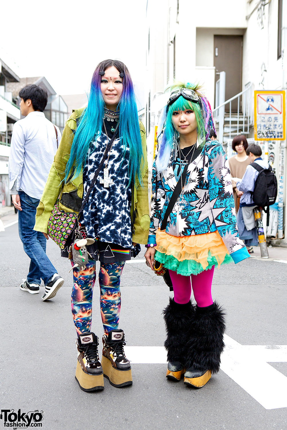 Colorful Harajuku Fashion W Cayhane Jammin Nude N Rude