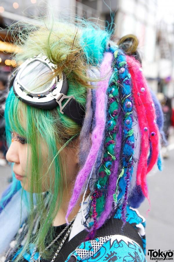 Colorful Hair Falls in Harajuku