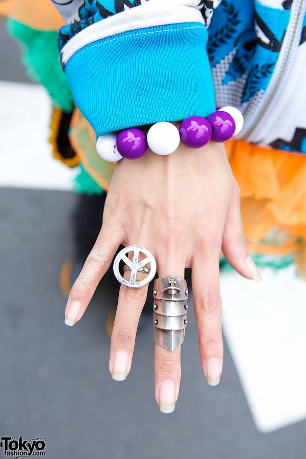 Armor Ring & Peace Sign