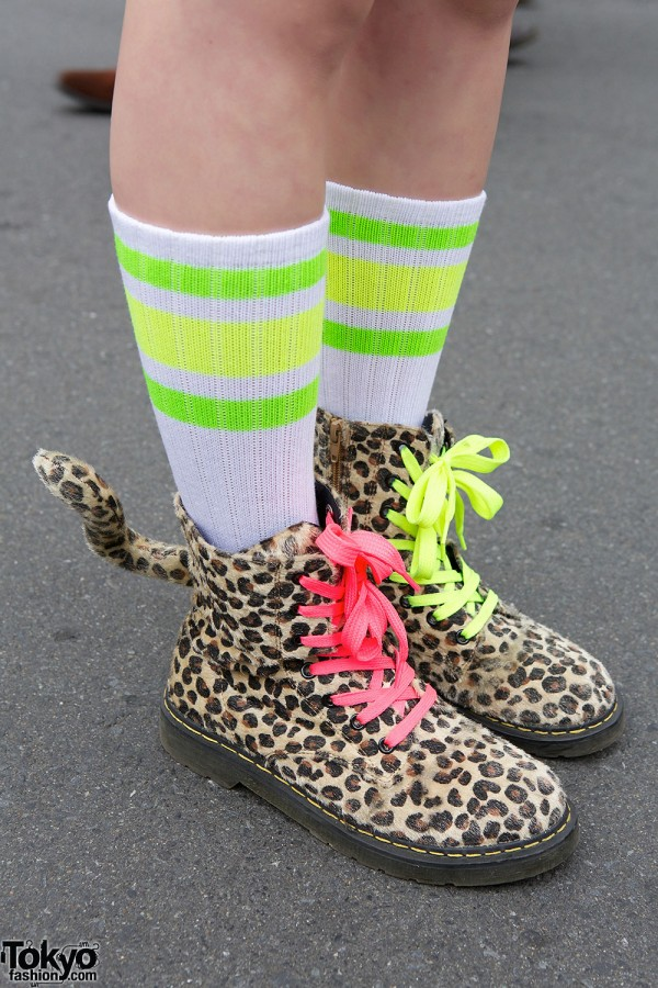 Animal Print Kokopelli Boots