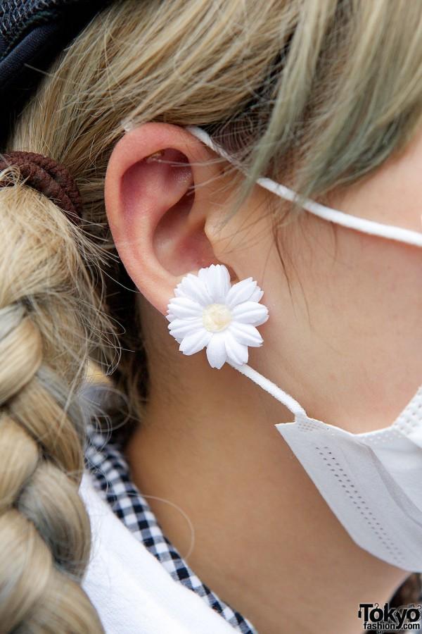 Plastic Flower Earrings