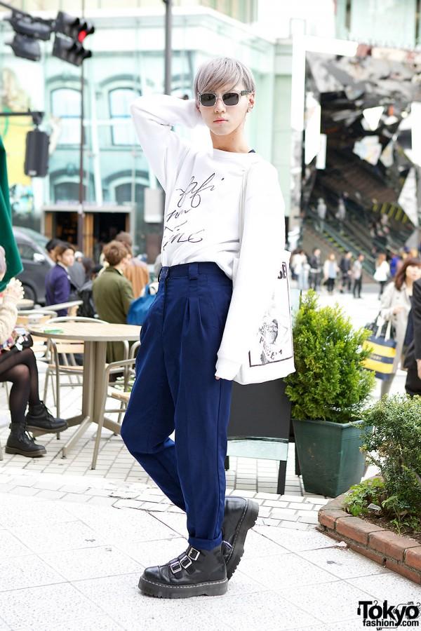 Fafi x Faline Sweatshirt w/ Pameo Pose & Dr. Martens Buckle Boots in Harajuku