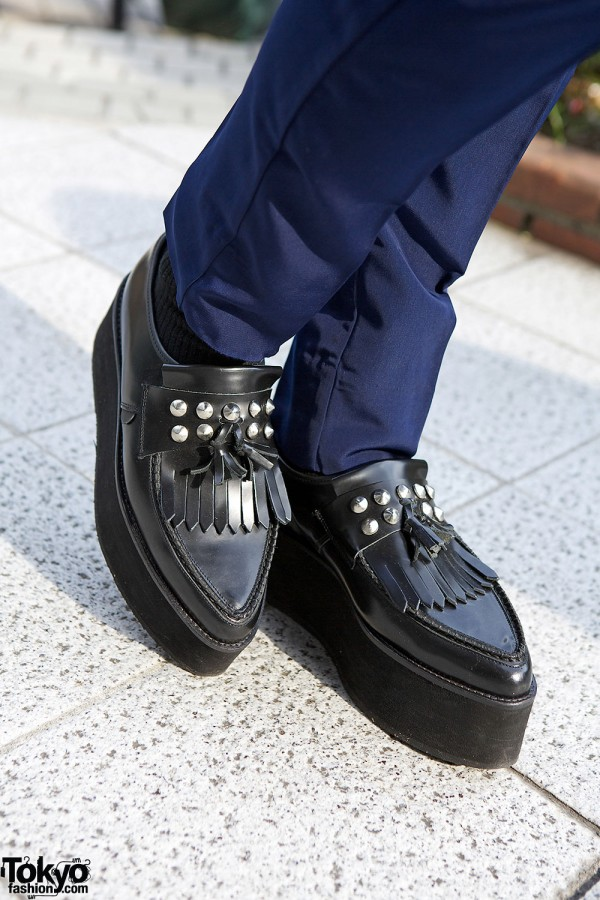 Platform loafer creepers