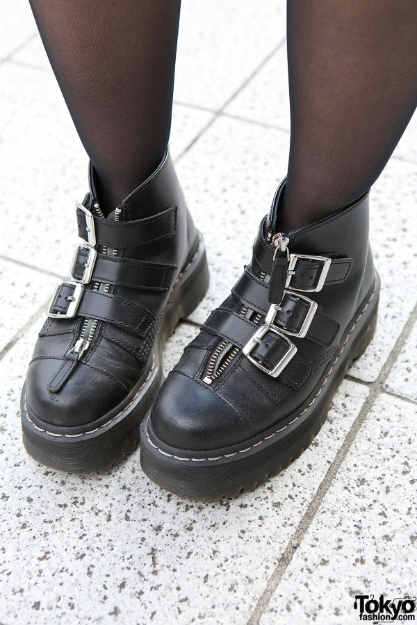 Dr Martens Buckle Boots With Zippers