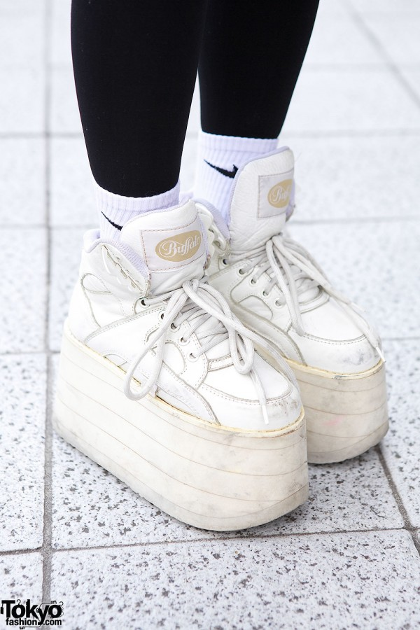 White Buffalo platform shoes