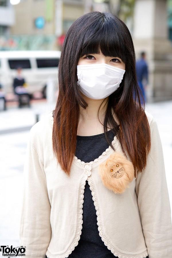 Harajuku Girl With Lion Pin