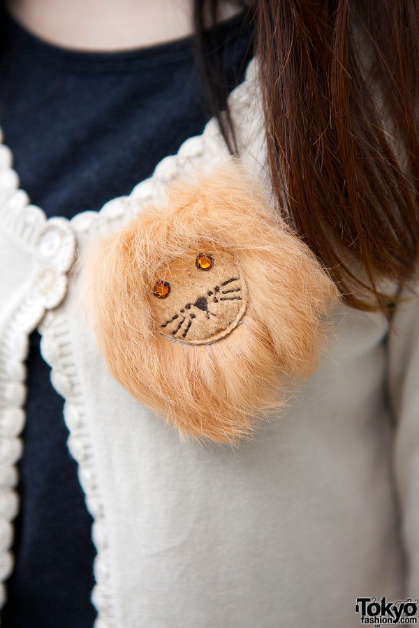 Franche Lippee lion brooch