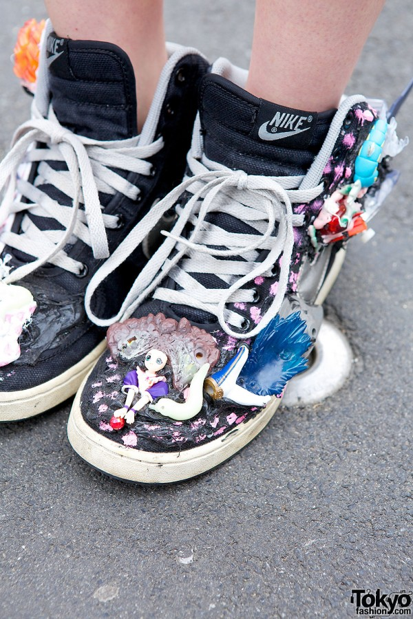 Toy-covered Sneakers in Harajuku