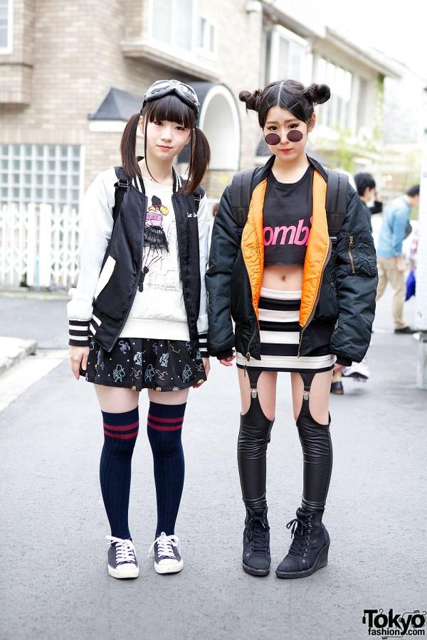 Harajuku Girls in Bomber Jackets