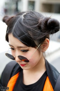 Odango Hairstyle in Harajuku