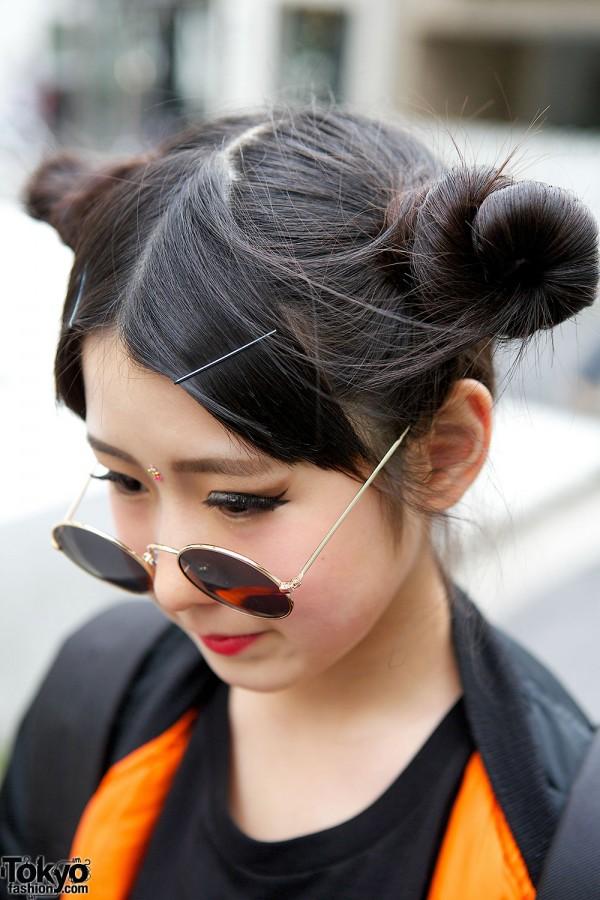 Odango Hairstyle in Harajuku