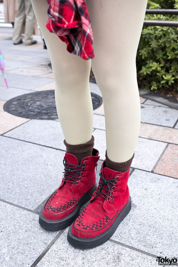 Red High-top Creepers