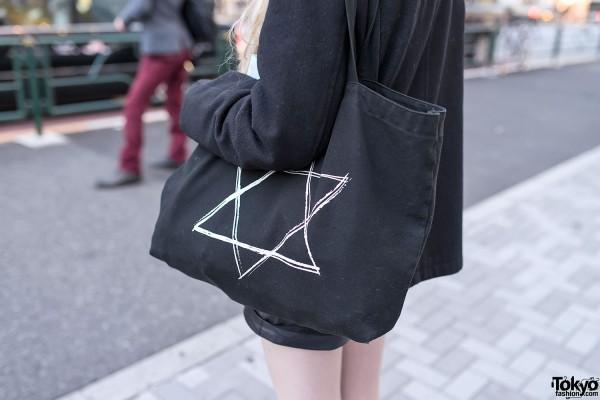 Star Print Harajuku Tote Bag