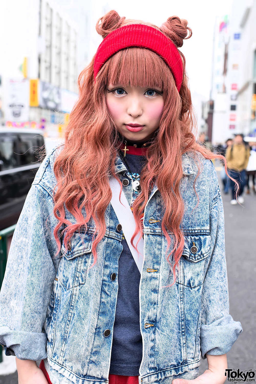 Japanese Double Buns Hairstyle In Harajuku Tokyo Fashion