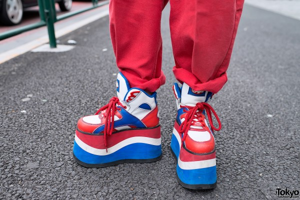 bf715bed91b8 Red   Blue Buffalo Platform Sneakers – Tokyo Fashion News