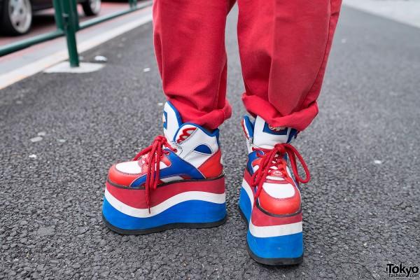bf715bed91b8 Red   Blue Buffalo Platform Sneakers – Tokyo Fashion News