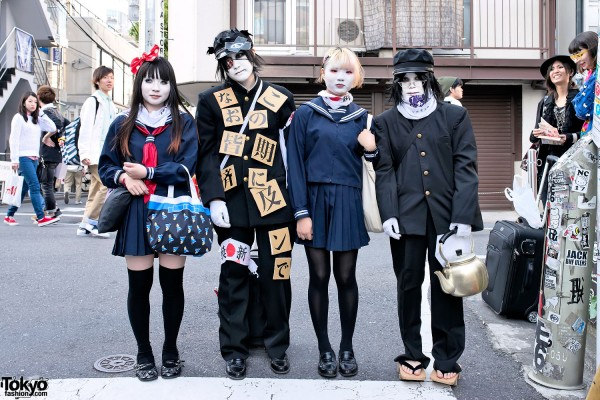 Shironuri in Japanese School Uniforms