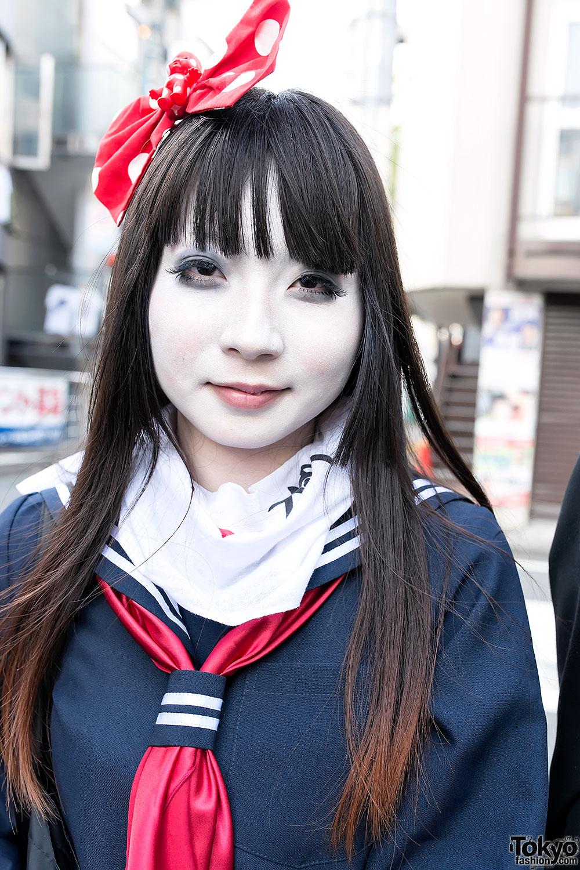 shironuri schoolgirl in harajuku � tokyo fashion news