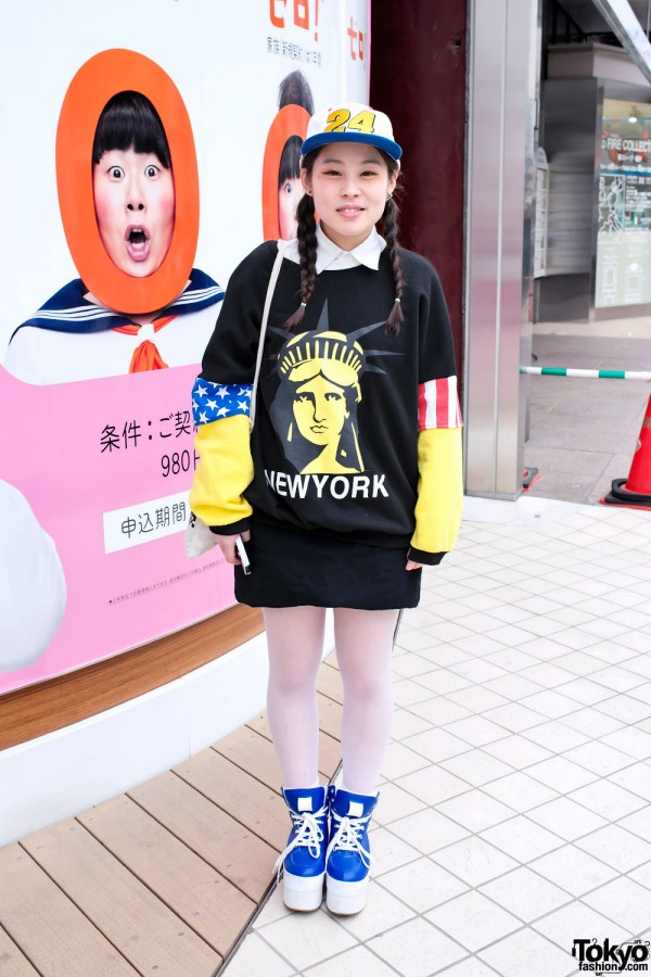 Statue of Liberty sweatshirt in Harajuku