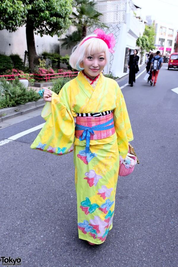Kumamiki's Kawaii Kimono in Harajuku