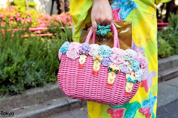 Cute Party Baby Shrimp Basket Bag in Harajuku