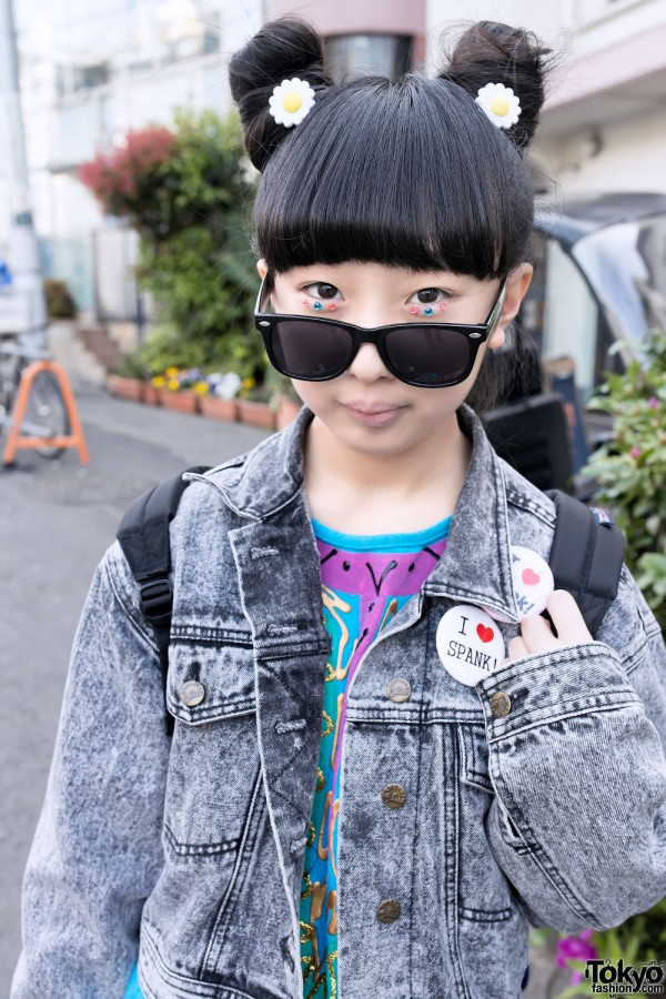 Eye Jewels & Japanese Odango Hairstyle