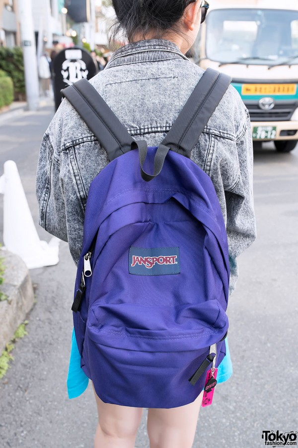 2NE1 Charms on a Jansport Backpack