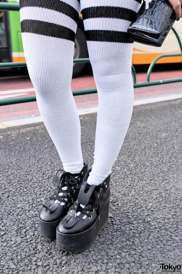 Tokyo Bopper & Thigh-High Tube Socks