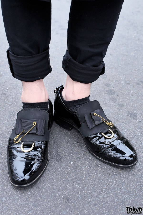 Safety Pin Patent Dress Shoes